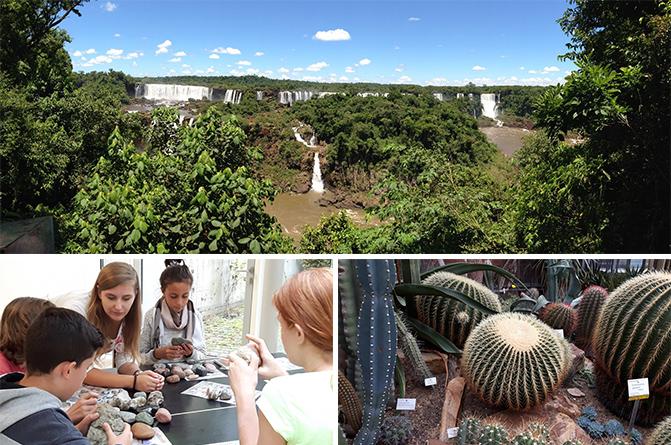 Schülerinnen und Schüler beschäftigen sich im geo:labor mit dem Lebensraum Erde