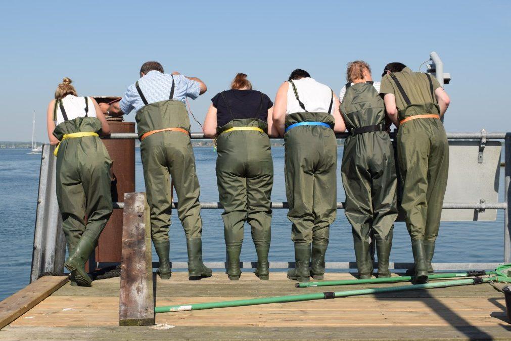 Lehrerinnen und Lehrer lernen bei der Fortbildung as ANgebot Expeditionslernen der Kieler Forschungswerkstatt kennen