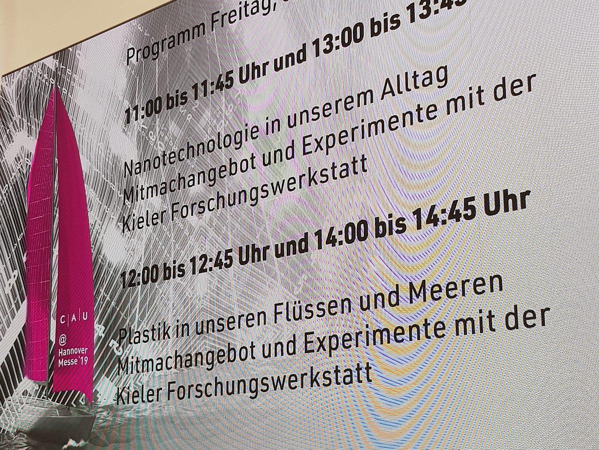 Die Kieler Forschungswerkstatt auf der Hannovermesse