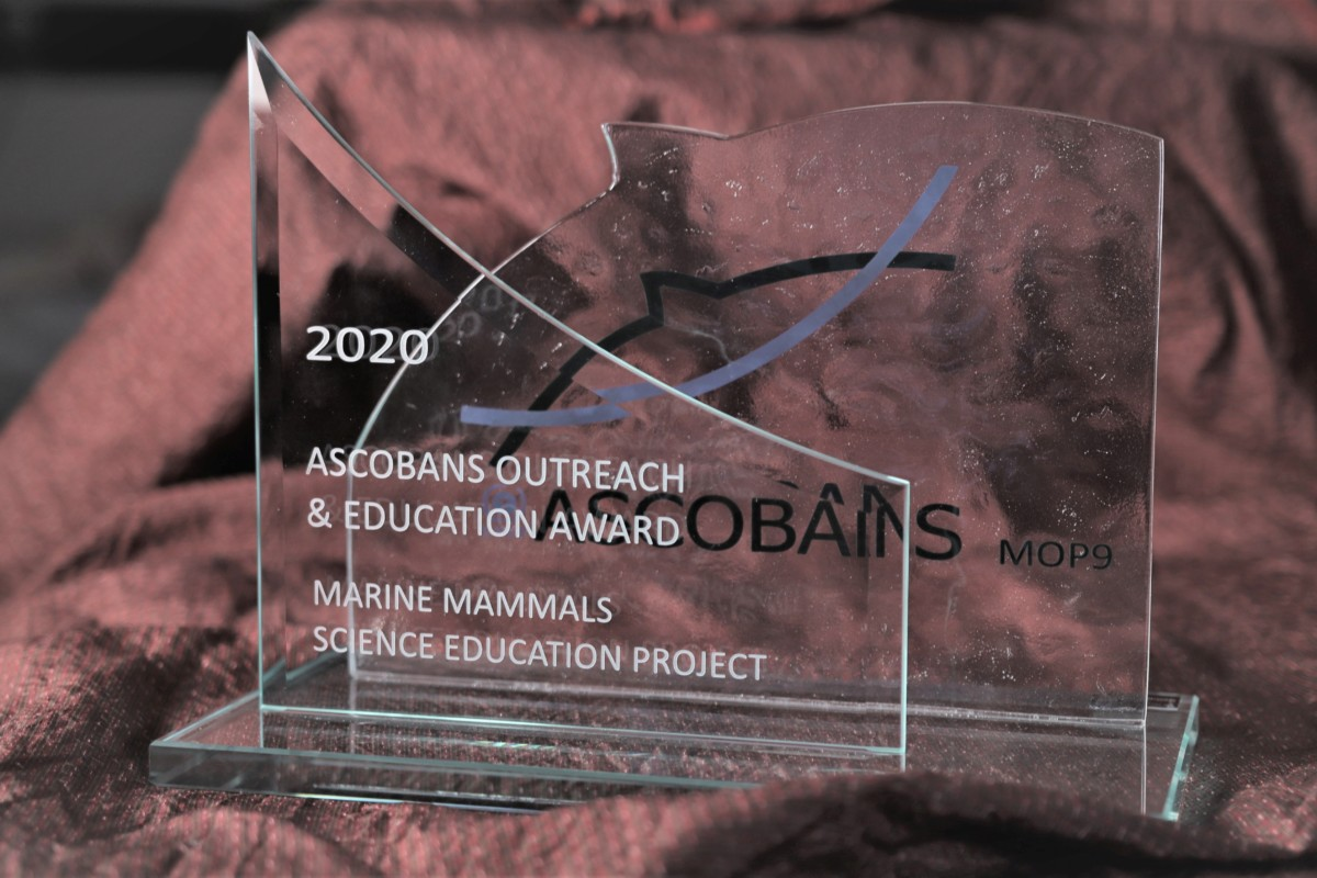 Hohe Auszeichnung: Das Projekt Marine Mammals erhielt am 7. September den ASCOBANS Outreach and Education Award