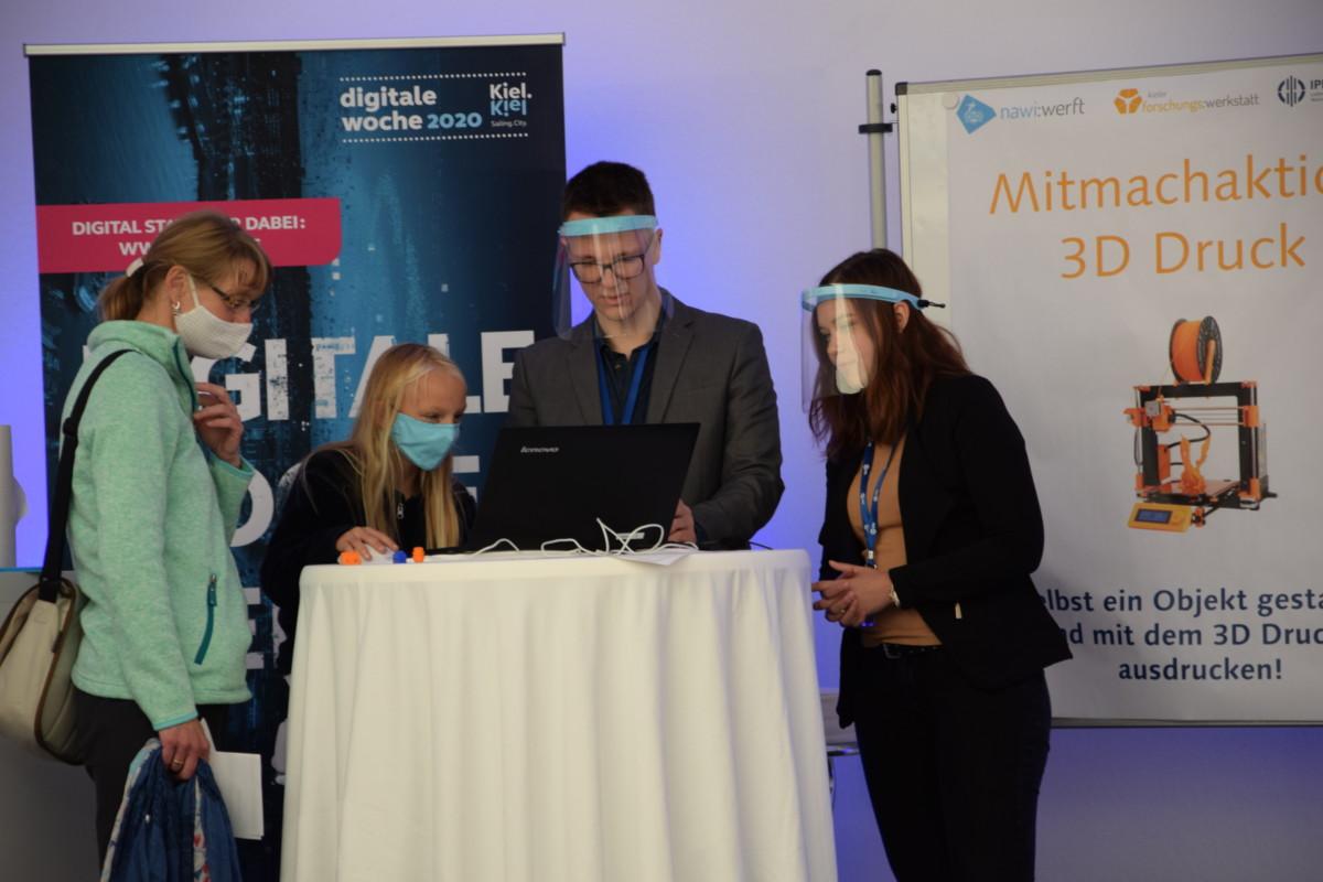 Mitmachaktion 3D-Druck zur Digitalen Woche Kiel
