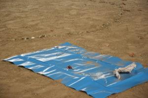 Müll am Flussufer der Schwentine